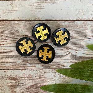 Tory Burch Black & Gold Replacement Buttons